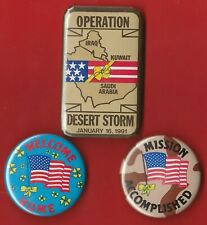 1990-91(Lot of 3) Operation Desert Storm / Patriotic Buttons (L01)