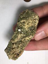 Natural Green Garnet Crystal Cluster Mineral Specimen