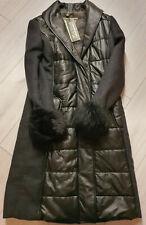 MATCHLESS Damen Winter  Leder /Woll Mantel NORWICH Coat Lead Grey Gr. 42 M