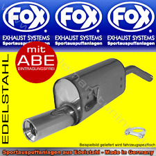 FOX SPORTAUSPUFF Honda Civic 3/CRX 2 EC8/EC9 ED6/ED7/ED9 EE8/EE9 88-91 1x90