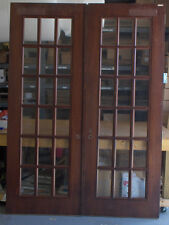 "1 Pair Mahogany & True Divided Glass Doors for 6'-0"" x 8'-4"" X 1 3/4""(72""x100&#0 34;)"