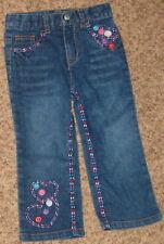 Blue Denim Arizona 3T Jean w Hearts Pant Cs