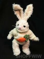 "Unipak Designs  8"" Mimi Cream Chenille Bunny Rabbit in Carrot Sweater"