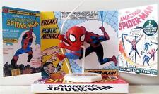 SPIDERMAN Marvel Comic Superhero Mini ACTION FIGURE on Custom Display DIORAMA