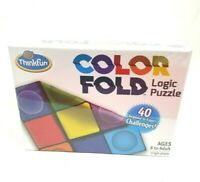 Color Fold Logic Puzzles 40 challenges Beginner to Expert Game - ThinkFun New
