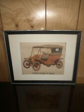 Ford Model T 1909 Silk Framed Picture Car 15x12