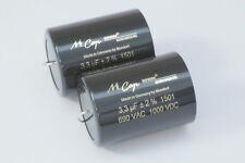 NEW – 1x 3,3µf-1000v MUNDORF MCAP SUPREME SILVER-ORO-OLIO film capacitor