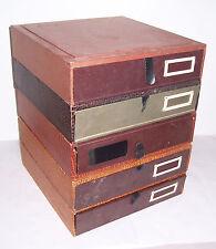 5er Set Dokumente Boxen Schachteln Aktenschrank Mid Century Shabby Vintage deko