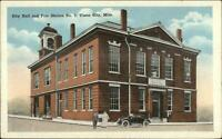 Yazoo City MS City Hall Fire Station c1920 Postcard