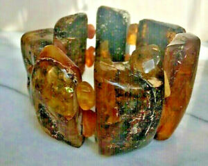HUGE NATURAL RAW AMBER STATEMENT BRACELET 142 GRAMS!!!