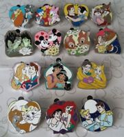Disney Couples Mystery Pack Princess Prince Animals Trading Pin Make a Set Lot