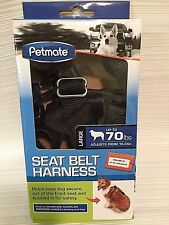 Dog Seat Belt Harness Petmate Large Black Up to 70 lbs Adjustable Doskocil