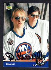 Darius Kasparaitis #554 signed autograph auto 1992-93 Upper Deck Hockey Card