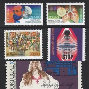 Portugal  Stamps | 1982 | 5 stamps | #1569, 1580-1581, 1586, 1592 MNH OG