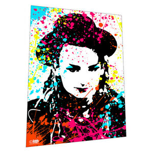 """1980s glam legend """"Boy George"""" Wall Art - Graphic Art Poster"""