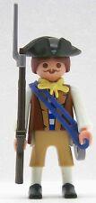 Soldato Continental Army PLAYMOBIL baionetta campo flacone guardia Ghette USA 1768