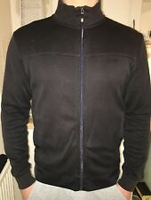 HUGO BOSS GENTS BLACK SWEATSHIRT ZIPPER SIZE SMALL