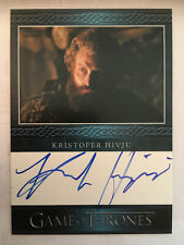 Tormund Giantsbane Hivju Game of Thrones 3 Autograph Trading Card Auto
