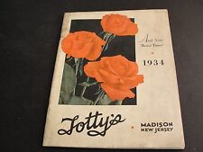 Advertising 1934 Totty's Catalogue with prices of plants for sale -Madison,N.J.