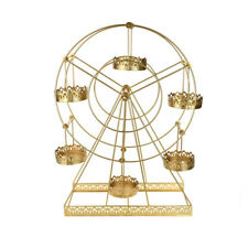 Large Metal Wire Carnival Ferris Wheel Cupcake Stand, Gold, 22-Inch