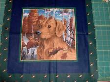 """quilt panel of two labs, by VIP, 18"""" x 36"""", no border, cotton - GRN370"""