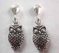 Night Owl Dangle Stud Earrings 925 Sterling Silver Corona Sun Jewelry