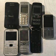 Job lot 7 vintage Mobile Phones - NOKIA, samsung, Sony Ericsson