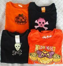 5 6 Girls Halloween Shirt LOT pumpkin skull crown bling Gymboree TCP
