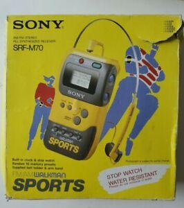 SONY SRF-M70 Sports Radio FM/AM Walkman Digital Tuner