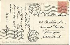 Netherlands   1921  Steiger Rotterdam  Briefkaart to Glasgow Scotland   Postcard