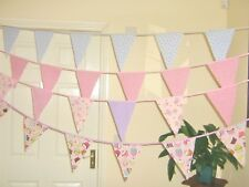 Cath Kidston Pink Spot Fabric Bunting Nursery Girls Party Bridal Baby Shower