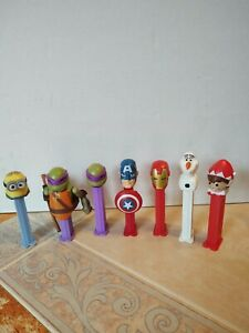 Pez Dispensers Ninja Turtle Donatello, Minion, Captain America, Iron Man & more