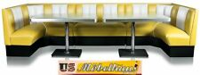 HW-120/360-Y American Diner Bench Corner Seat Furniture 50´S Retro USA Style