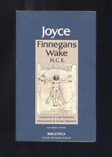 James Joyce,Finnegans Wake,Mondadori 1983 I ed,Testo in inglese a fronte  R