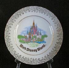 Walt Disney World Cinderella Castle White Collector Plate Gold Trim Japan
