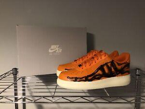 Nike Air Force 1 Low Orange Halloween Skeleton - Size UK 9