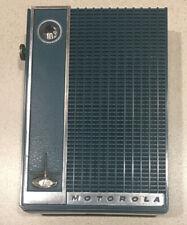 Mid 20th Century Motorola Transistor Radio Model X26J Exc Working Condition Teal