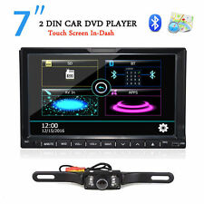 7 inch GPS Navigation 2Din HD Car Stereo DVD CD Player BT Auto Radio iPod+Camera