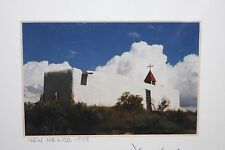 new mexico mission- color photo / matted 10 x 8 scott christopher, scenic pueblo