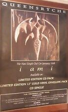 """40x60"""" Huge Subway Poster~Queensryche 1994 Live Tour Dates I am I Promised Land"""