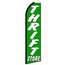 THRIFT STORE (GREEN) Swooper PREMIUM WIDE Flag