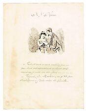 """LA VIE PARISIENNE EN 1878 / """"A L'OPERA"""" / DESSIN ORIGINAL A LA PLUME"""