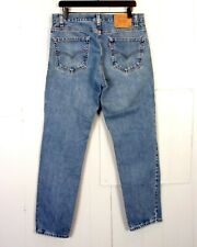 vtg 80s 90s Levis 512 Slim Fit Tapered Leg Men's Denim Jeans Red Tab 34 X 30