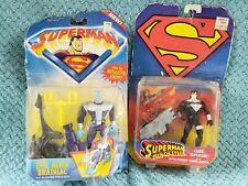 Vintage Superman Evil Alien Brainiac & Laser Superman Action Figures, Set of 2