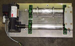 "DAYTON 4Z278 1/12 HP 115V 173 RPM 10:1 RATIO GEARMOTOR W/ 2 2"" TURNING ROLLERS"