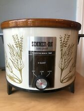 Vtg New! Hamilton Beach Simmer-On 6 Qt Slow Cooker 450Hd Herb Garden Made In Usa