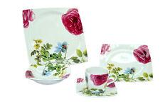20 Piece Porcelain Dinnerware Set With Floral Spring Design