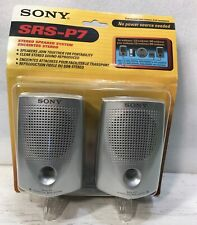 SONY SRS-P7 Personal Passive Stereo Speakers, Portable, Computer, Mini Plug -NEW