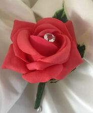 Coral Rose Buttonhole