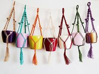 **Handcrafted Macrame Plant Hangers for smaller spaces. Ideal Birthday gift **